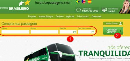 Comprar passagem da Expresso Brasileiro pela internet