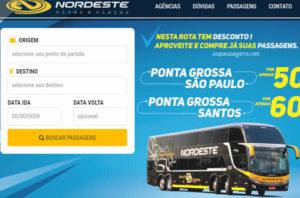 Comprar passagem da Expresso Nordeste pela internet e telefone