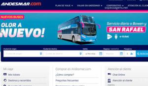 Comprar passagem da viação Andesmar Argentina pela internet e telefone