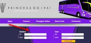 Passagens da Princesa do Avaí pela internet