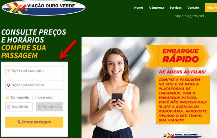 Passagens da Auto Viação Ouro Verde pela internet e telefone