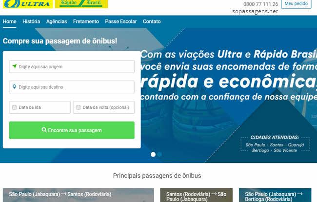 Passagens da Rápido Brasil pela internet