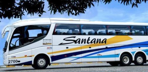 Passagens da viação Santana pela internet