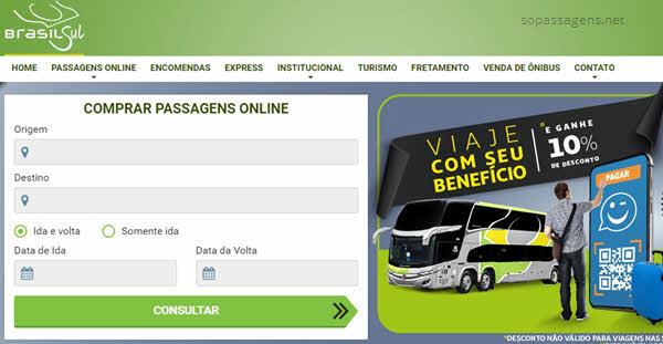 Comprar passagem da Brasil Sul pela internet
