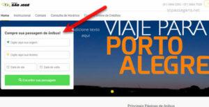 Comprar passagens da Expresso São José pela internet e telefone