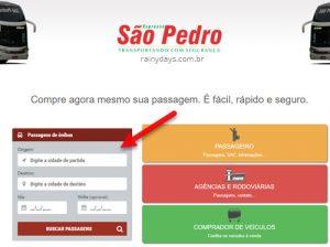 Comprar passagens da Expresso São Pedro pela internet