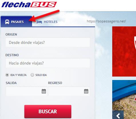Comprar passagens da FlechaBus pela internet