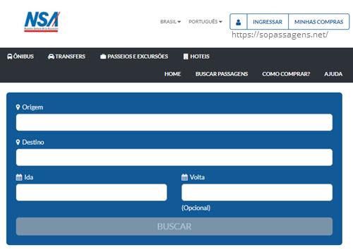 Comprar passagens da NSA Paraguai online