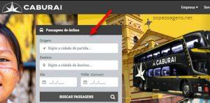 Passagens da viação Caburaí Transportes pela internet
