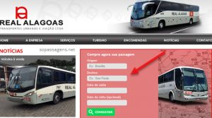 Comprar passagem da Real Alagoas pela internet