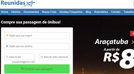 Passagens da Reunidas Paulista pela internet