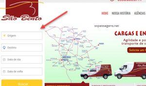 Comprar passagens da São Bento pela internet