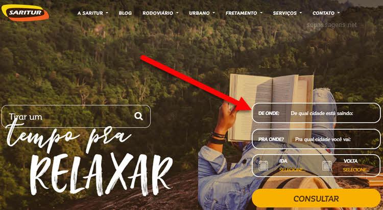 Como comprar passagens da Saritur pela internet, aplicativo, telefone e WhatsApp