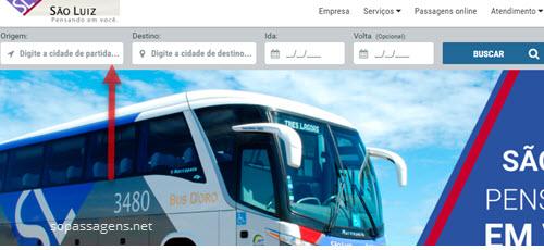 Comprar passagens da viação São Luiz pela internet