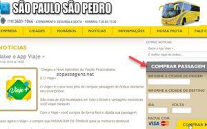 Comprar passagens da Viação São Paulo São Pedro