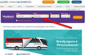 Como comprar passagem da Breda pela internet?