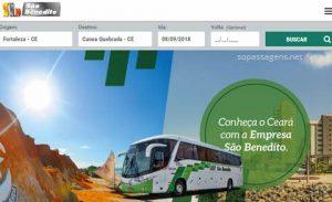 Passagens da São Benedito pela internet ou telefone
