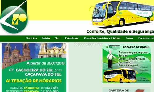 Página da São João, comprar passagens da São João Transportes online
