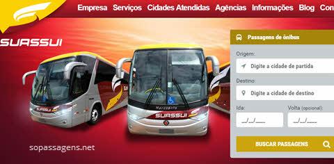 Site para comprar passagens da viação Suassuí pela internet