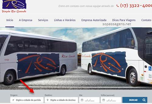 Passagens Viação Rio Grande pela internet