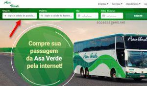 Passagens Asa Verde pela internet