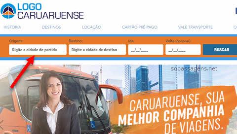 Passagens viação Caruaruense pela internet
