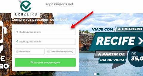 Passagens Viação Cruzeiro pela internet