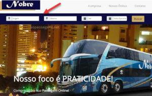 Passagens Nobre Turismo pela internet
