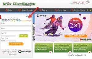 Passagens via Bariloche pela internet