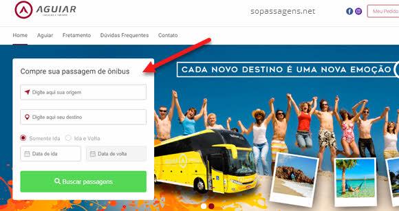 Passagens da Aguiar Locação e Turismo online e telefone
