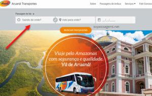 Passagens da Aruanã Transportes pela internet