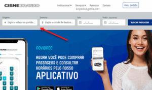 Comprar passagem Cisne Negro pela internet, telefone ou app