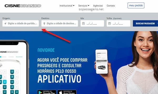 Comprar passagem Cisne Branco pela internet, telefone ou app