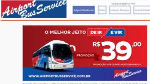 Passagens da Airport Bus Service pela internet, telefone ou app