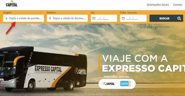 Passagens da Expresso Capital pela internet e telefone