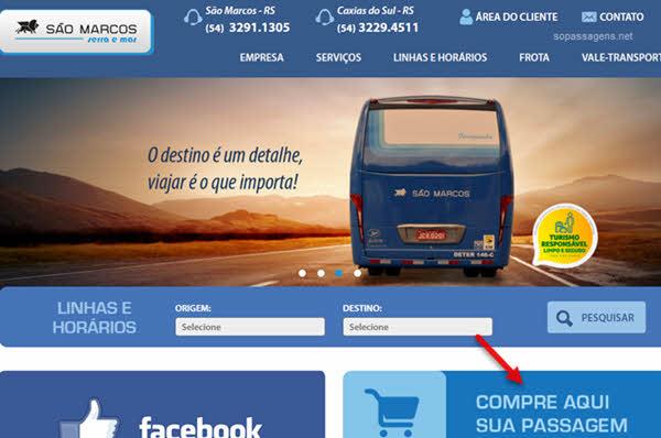 Pode comprar passagens da Expresso São Marcos pela internet?