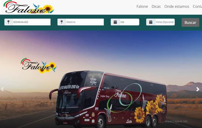 Como comprar passagens da Falone Turismo pela internet, telefone e WhatsApp