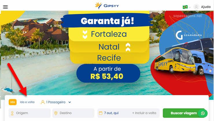 Como comprar passagens da Gipsyy pela internet, aplicativo, telefone e WhatsApp